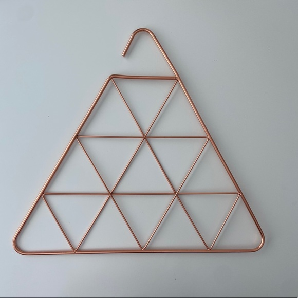 Other - Copper Triangle Scarf Organizer Hanger